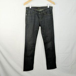 Goldsign Envy Blue Dark Wash Straight Jeans